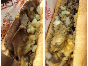 cheesesteak split screen