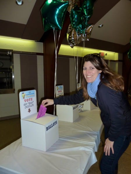 Ice Cream Taste-off - turning in ballot