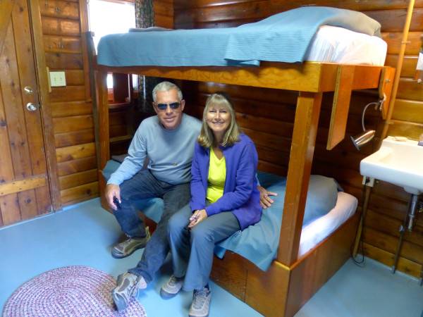 Brooks Falls- mom and dad in cabin