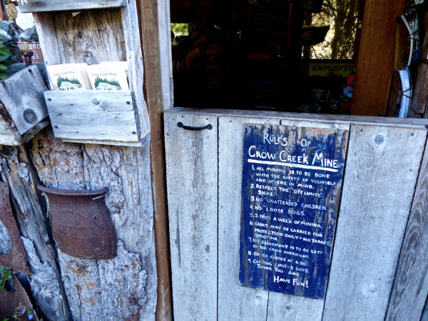 Crow Creek Mine- rules