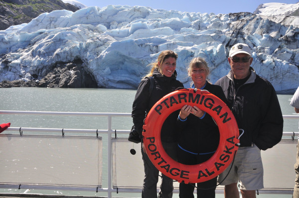 Portage Glacier - family photo