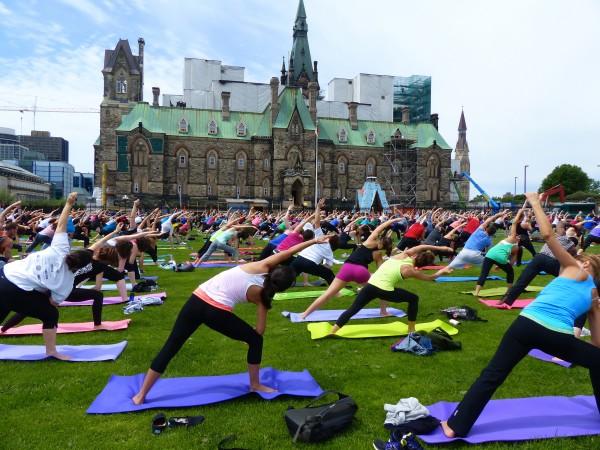 Yoga on Parliament Hill Ottawa