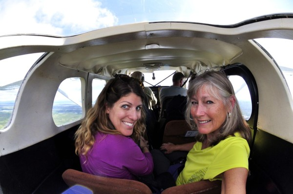 mom and I on seaplane
