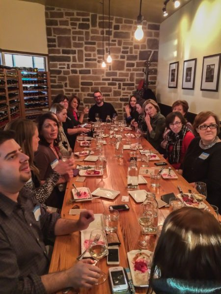 Wine Kitchen- group of bloggers