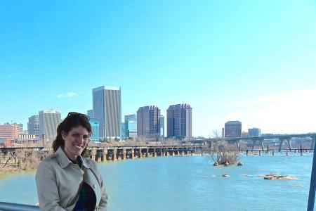 me and the Richmond skyline
