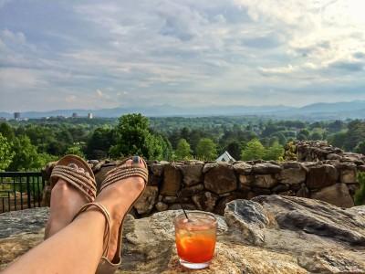 Grove Park Inn-drink on the patio