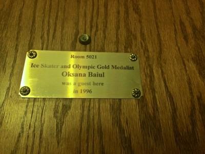 Grove Park Inn- room Oksana Baiul