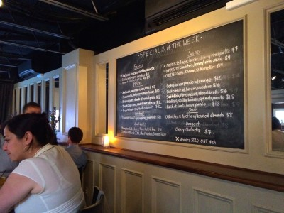 The Alley Light- specials menu