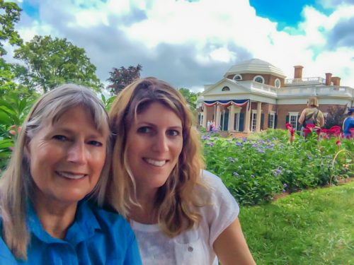 Charlottesville - Monticello selfie