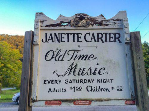Carter Family Fold sign