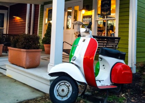 Clifton, Virginia-- Little Villagio market vespa