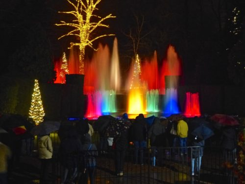 Holidays in the Brandywine Valley- Longwood Gardens light show 2