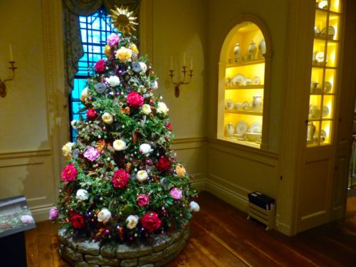 Holidays in the Brandywine Valley- Winterthur tree and china