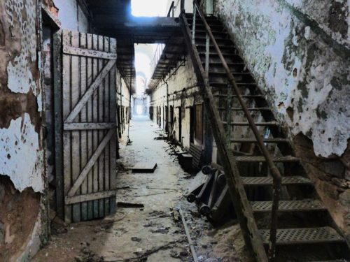 Philadelphia- Eastern State Penitentiary- stairs to nowhere
