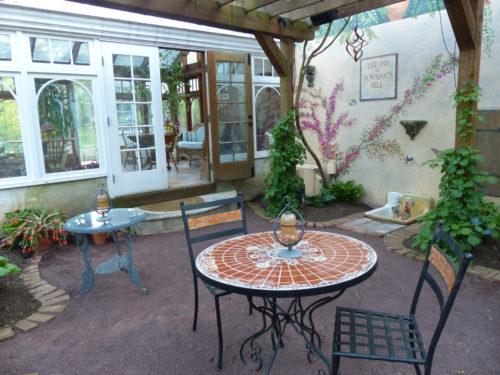 Bucks County- Inn at Bowman Hill- back veranda 2