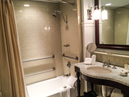 Omni Bedford Springs Review- bathroom