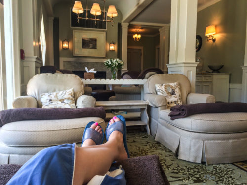 Omni Bedford Springs Review- spa lounge