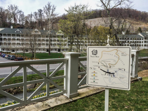 Omni Bedford Springs Review- trail map