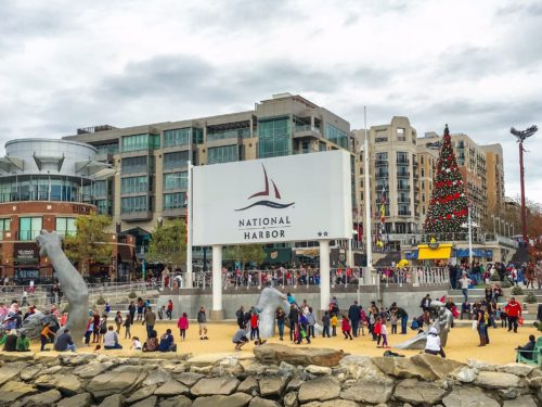 Holidays at the National Harbor- beach