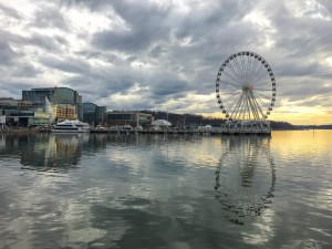 Holidays at the National Harbor- scenic view of Capital Wheel 2